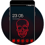 Cool Neon Red Skull Theme for Vivo V5 APK icon