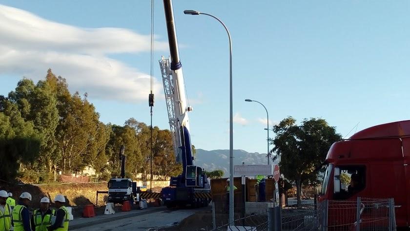 Llegada de la maquinaria hasta Almería