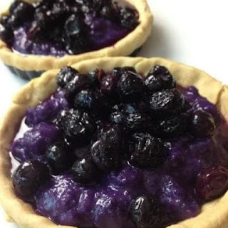 Purple Yam-Ube Blueberry Tarts