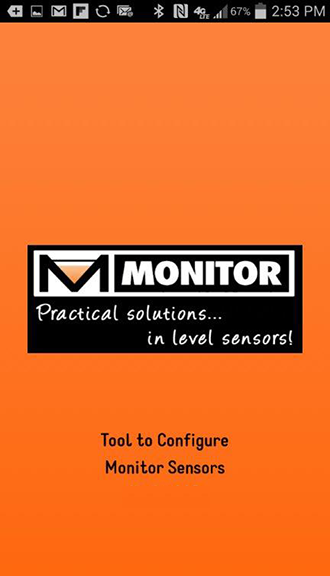 Monitor Configure Sensor- screenshot