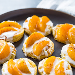 Peaches and Cream Pastries.