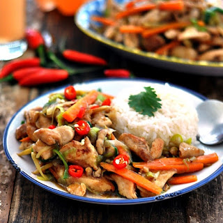 Chinese Ginger & Leek Chicken Stir Fry Recipe
