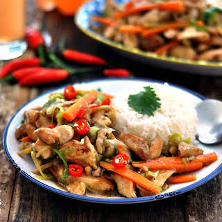 Chinese Ginger & Leek Chicken Stir Fry.