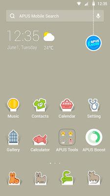 Pets-APUS Launcher theme - screenshot
