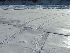 Photo: Ice plates shift away