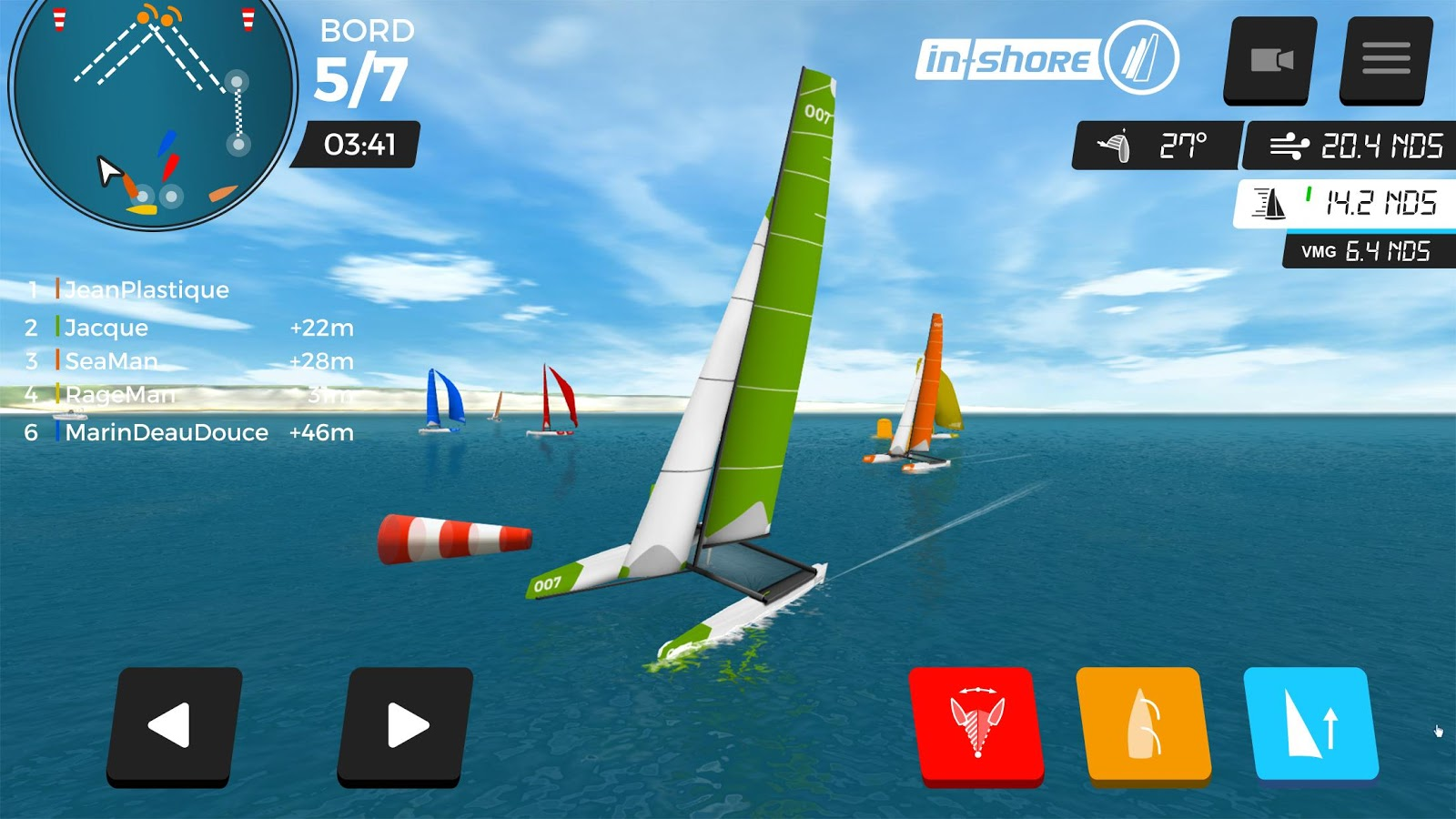 Virtual Regatta Inshore – Capture d'écran