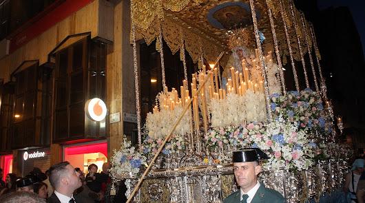 Paso de palio de Nuestra Señora de los Ángeles que estará expuesto en Esencia Cofrade.