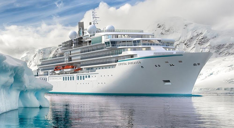 Crystal Endeavor is on course to make her inaugural voyage out of Reykjavík on Sunday.