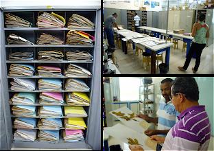 Photo: Detalhes do UESC: armário com exsicatas, sala do herbário e consulta às amostras.