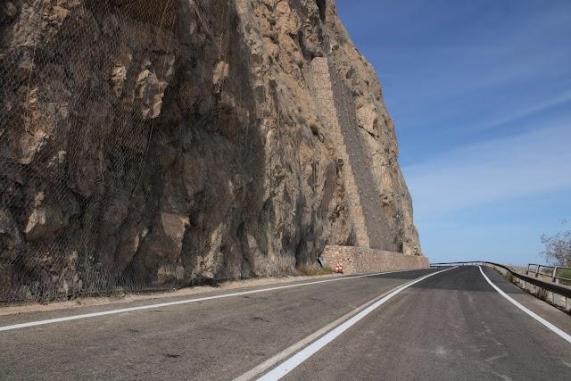 Zona de la carretera del Cañarete donde se han realizado las obras.