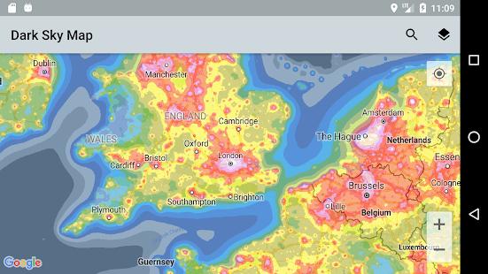 Dark Sky Map - náhled