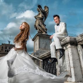 by Wee Heong - Wedding Bride & Groom ( love, milan, rome, wedding )