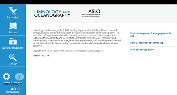 Limnology and Oceanography- screenshot thumbnail