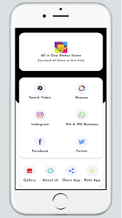 All In One Status Saver : FB, WhatsApp, Instagram 2.0 APK + Mod (Free purchase) for Android