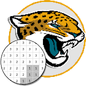 American Football Logo Color By Number - Pixel Art