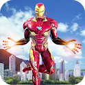 Flying Superhero Revenge: Grand City Captain Games icon