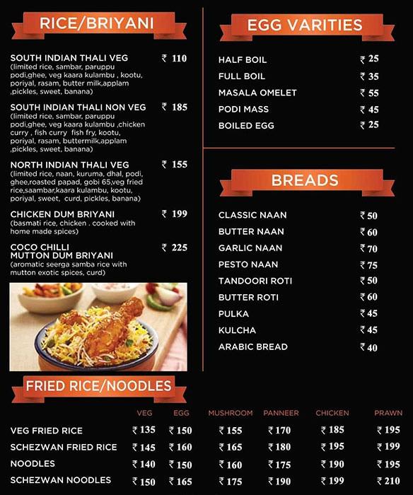 Cocochilli menu 5