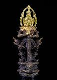>>ท้าวเวสสุวรรณ เนื้อชนวนหน้าทอง อุดผงยาจินดามณี หลวงพ่ออิฐ วัดจุฬามณี หมายเลข 377 เคาะเดียวแดง<<