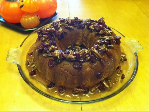 Pumpkin Cake With Cranberry And Pecan Glaze Recipe