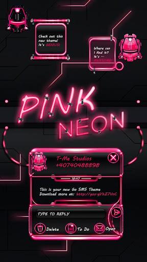 GO短信粉色霓虹燈|玩個人化App免費|玩APPs