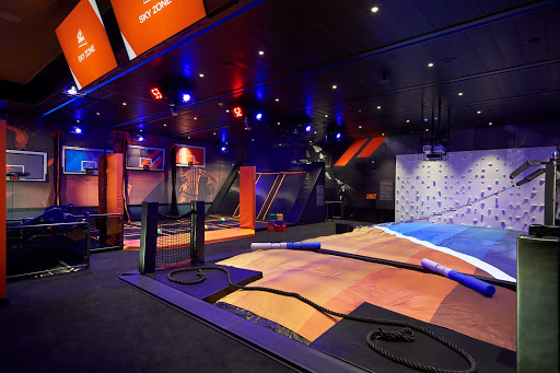 This ship is jumping! Sky Zone is an indoor trampoline park for all ages.