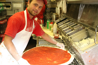 Photo: Stanislav from Russia. Very fast man!   All our pies are know to be a bit on the Heavy-Sauce side. Its the sauce that has the spices YuM.
