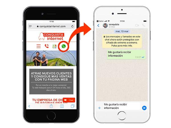 WhatsApp en empresas Conquista internet