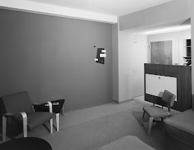 Photo: Terrace Plaza Hotel, Location: Cincinnati OH, Architect: Skidmore Owings & Merrill. Room with disappearing wall - wall down.