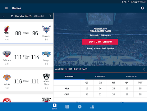 NBA приложение APK screenshot thumbnail 6