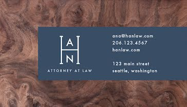 Hernandez Attorney - Business Card Template