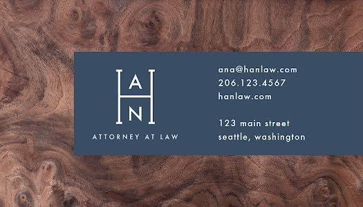 Hernandez Attorney - Business Card Template
