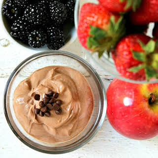 Skinny Fruit Dip for One   Chocolate.