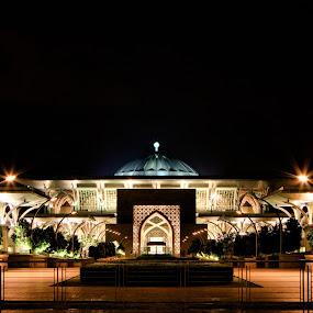 Iron by Danial Abdullah - Buildings & Architecture Other Exteriors ( precint 3, sultan, ts, tilt, mosque, putrajaya, at night, ts-e, iron, tilt shift, iron mosque, 7d, mizan, night, light )