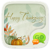 GO SMS HAPPYTHANKSGIVING THEME