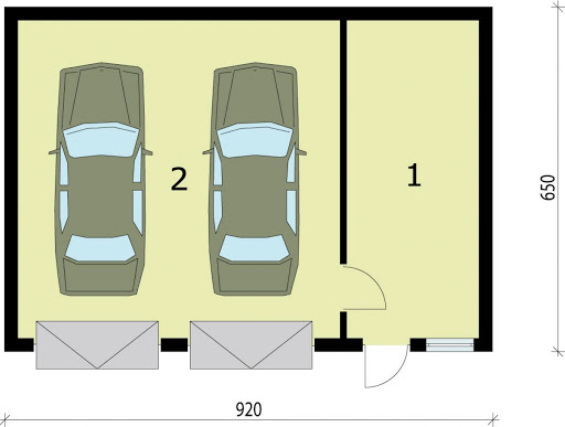 G85a - Rzut garażu