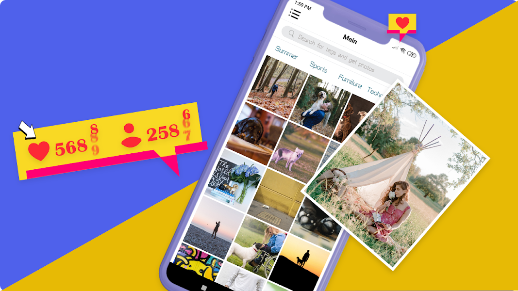 Boost likes tags and followers for instagram photo