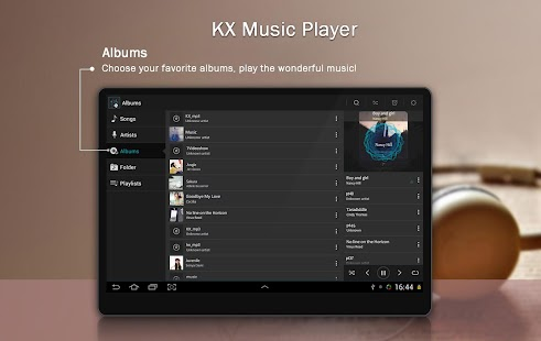 KX Music Player Screenshots