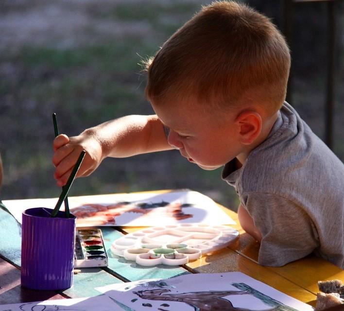 kid painting activities