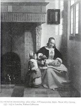 Photo: 1663. A prosperous mother and child. Have you been taking notice of the valences and tiled floors and fireplaces?