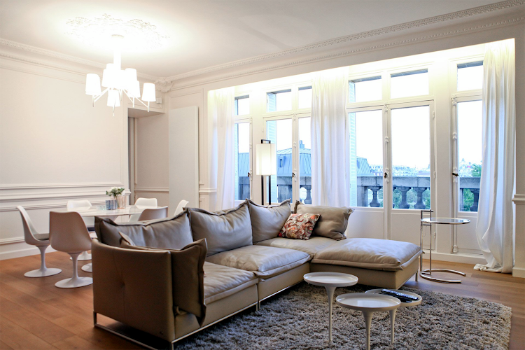 Living room at Eiffel Tower apartment
