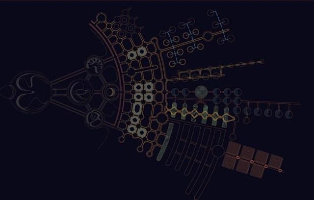 Bản vẽ thành phố trên sao Hỏa.