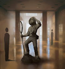 Photo: Early drawing by Anthony Smith of the proposed design of the statue (March 2012). Copyright Anthony Smith.