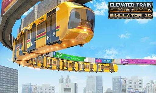 Elevated Train Driving Simulator: Sky Tram Driver apktram screenshots 1