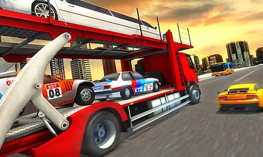 Vozidlo Transporter trailer Truck hry - náhled