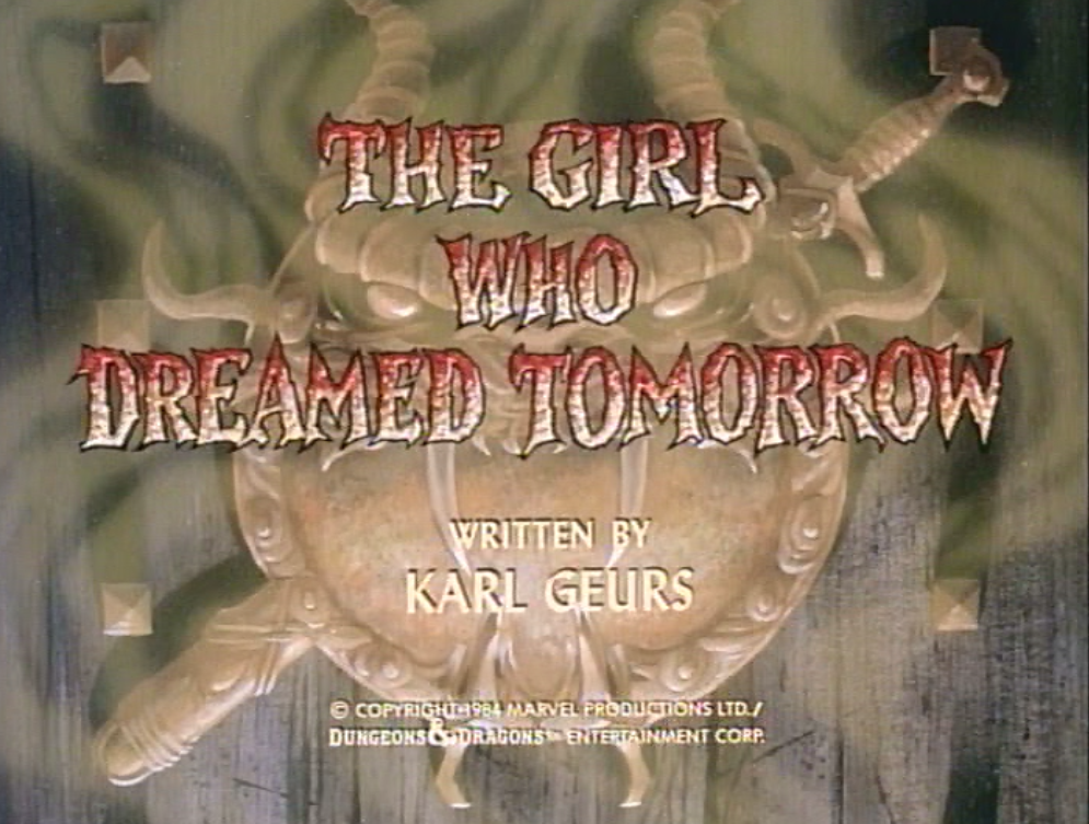 The Girl Who Dreamed Tomorrow title card