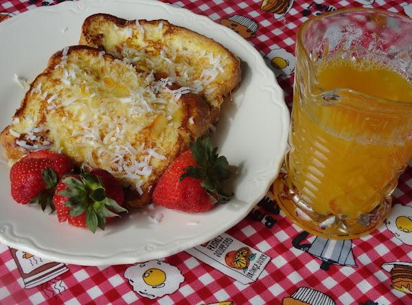 Pina Colada French Toast & Orange Syrup Recipe