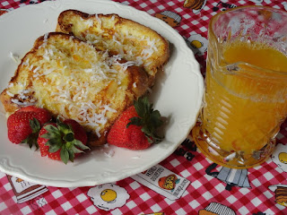 Pina Colada French Toast & Orange Syrup Recipe