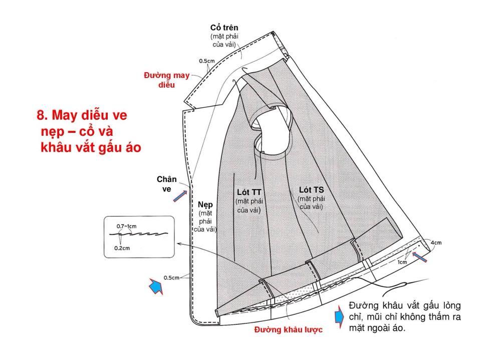 Bảng Size Thông Số Chuẩn Áo VEST NAM-NỮ Và Hướng Dẫn Cách Ráp Áo VEST 21
