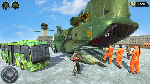 OffRoad US Army Helicopter Prisoner Transport Game 2.2 screenshots 13