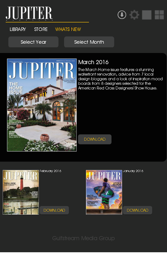 Jupiter Magazine- screenshot
